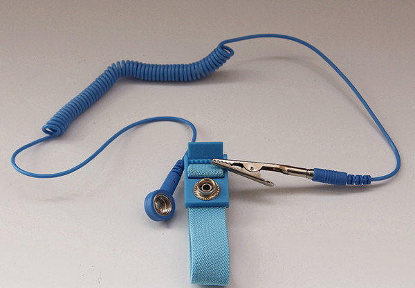 Antistatic ESD wrist strap ground bracelet with Alligator Clip wire