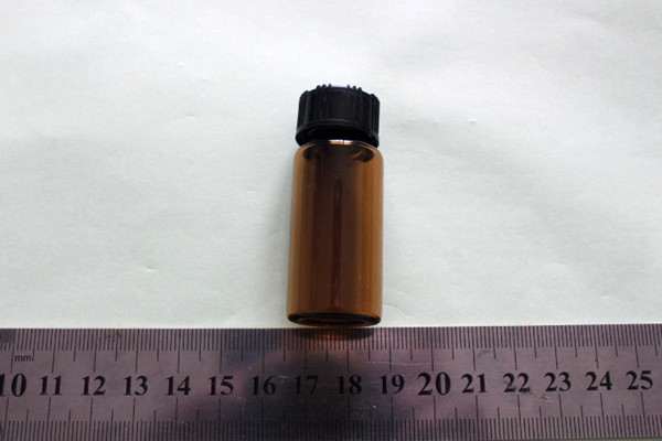 1~50ml Plastic cap Amber glass reagent sample bottle Screw Thread Vials