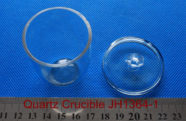 Clear Silica Quartz Crucible with lid