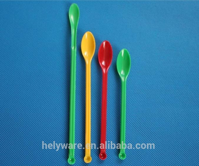 Double-edged bowls plastic medicine spoon lab sample spoon