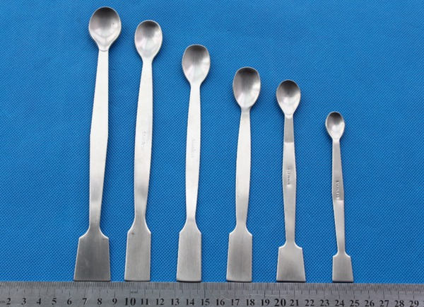 Stainless steel sample spoon with spatula end Spatula with Spoon for lab