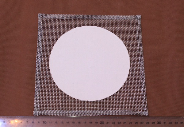 Ceramic Wire Gauze with Ceramic Center for lab