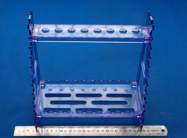 Vertically and Horizontally Trapezoid Pipette Support Rack Pipet Storage Rack