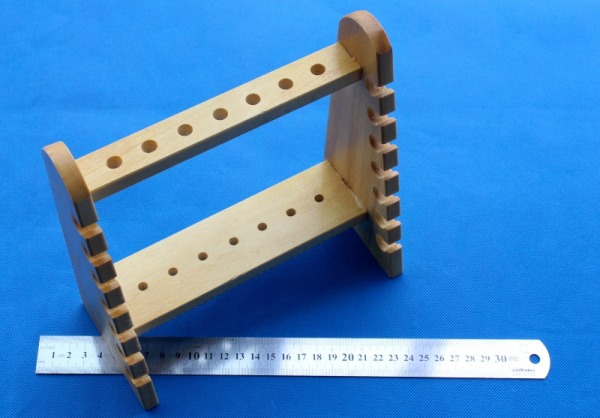 Trapezoid Wooden Pipette Support Rack Pipet Storage Rack