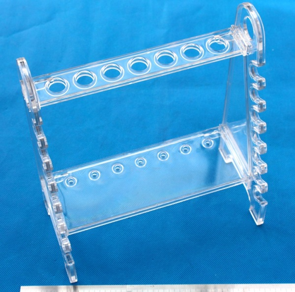 Demountable Trapezoid PMMA acrylic Pipette Support Rack Pipet Storage Rack