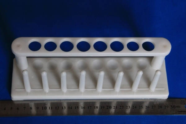 8 Place plastic In-Line Test Tube Rack with drying pins