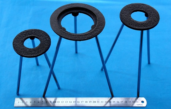Demountable Painted cast iron Ring Tripod stand for Burner in lab