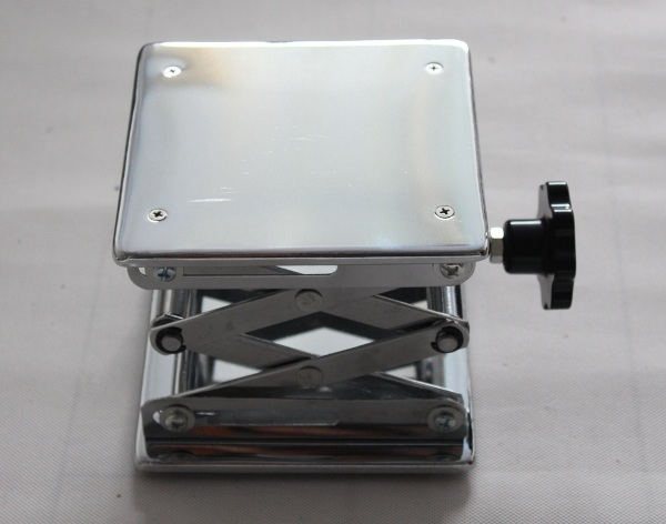 Chrome plated steel Laboratory Jack Scissor Lift for lab