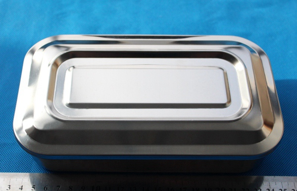 Rectangular stainless steel case box for storage or sterilization in lab
