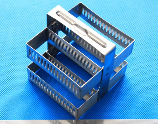 30 place Metal Staining Rack stainless steel Slide Staining Rack