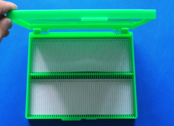 100 place Microscope Slide Case 100 slide storage box