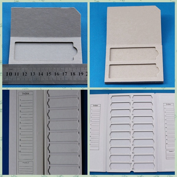 Cardboard Microscope Slide Tray microscope slide folder Pop-Up Slide Holder