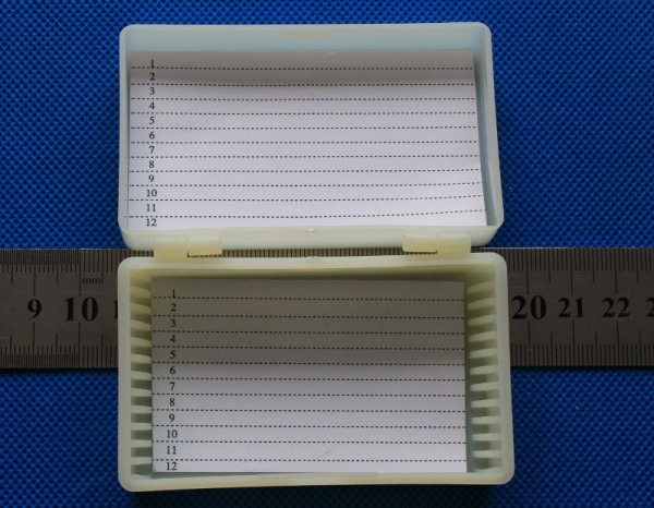 12 place Microscope Slide Case 12 slide storage box