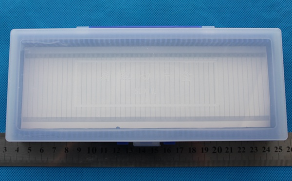 Clear cover 50 slide storage box 50-place Microscope Slide Case