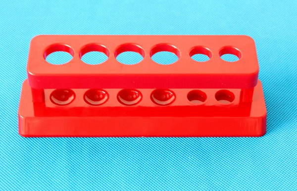 Plastic Demountable 6-place test tube rack stand