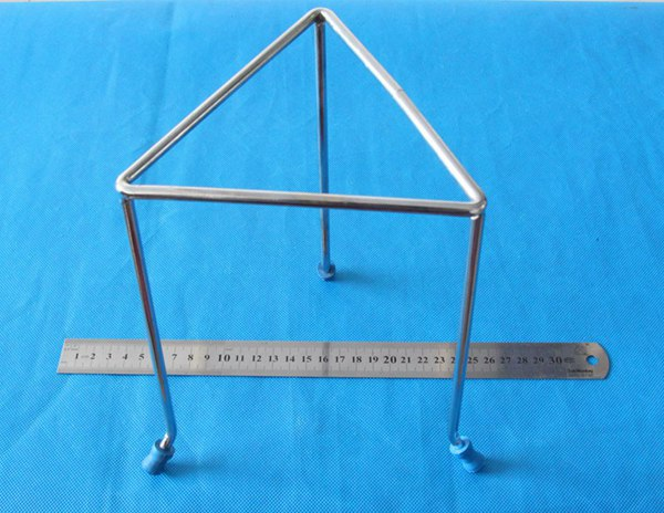 Chrome plated steel or stainless steel triangular Tripod stand for Bunsen Burner in lab