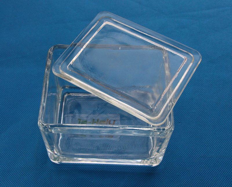 20 slide glass staining dish staining jar with cover for staining rack