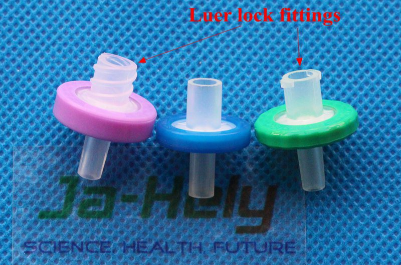MCE/CN-CA PP PTFE Nylon PES PVDF GF membrane 13 25 33mm Syringe Filter with female luer lock fitting