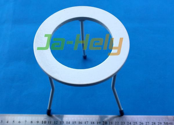8.1/12.1mm ID/OD 15.3cm height Powder coated steel lab chemistry Ring Tripod stand for Burner