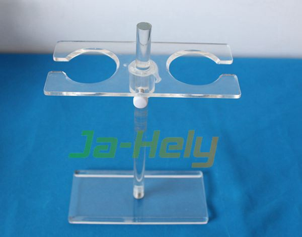 OEM custom Demountable acrylic separating funnel holder PMMA Separatory Funnel rack