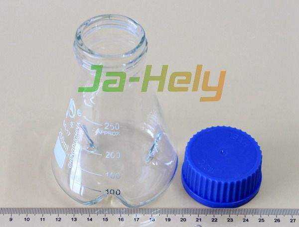 50~3000ml lab use Glass 3 baffles erlenmeyer flask baffled shaking flask with screw cap