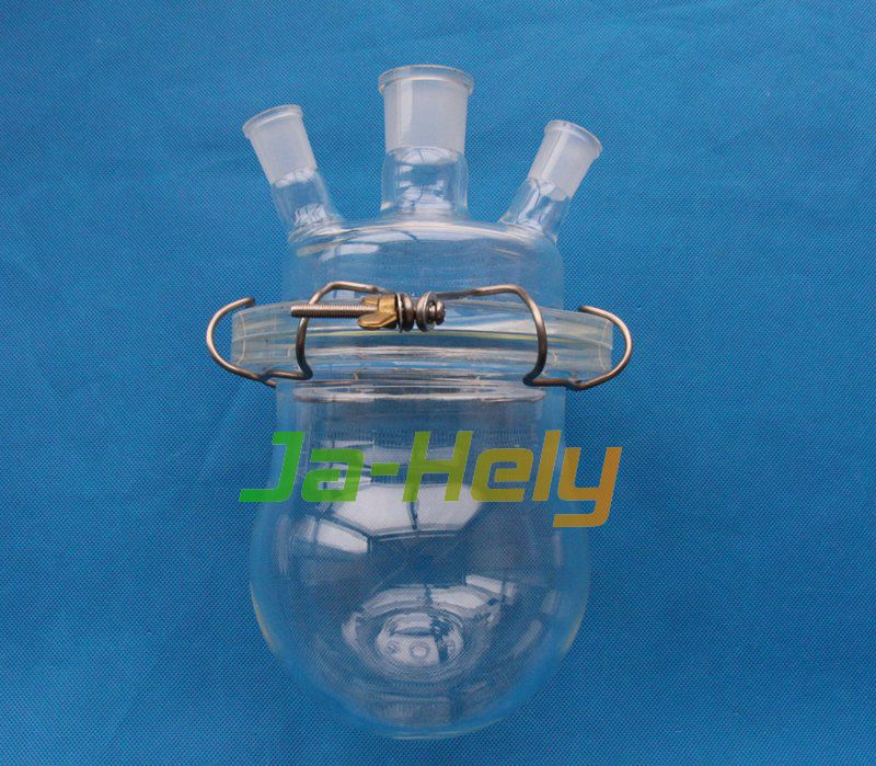 0.5L 1L 2L 3L 5L 10L Lab use glass open wide mouth flat Flange reaction Flask