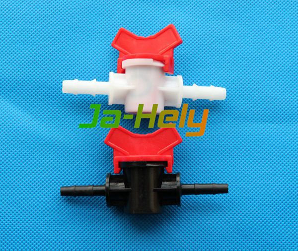 Plastic mini in-line Barbed flow control ball valve with 4~32mm double barb hose connector