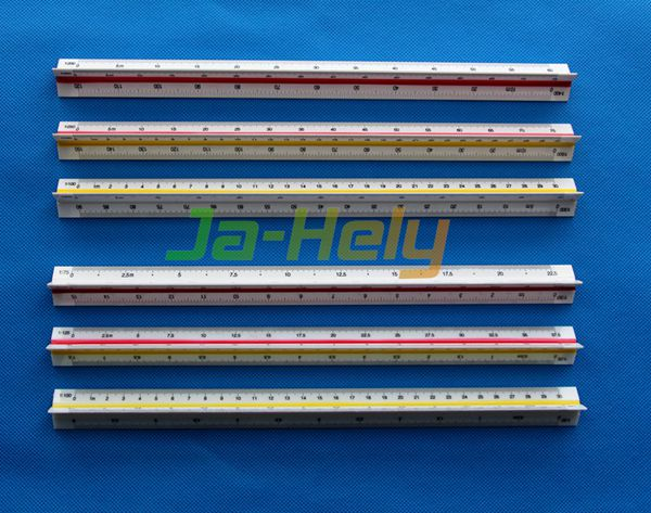 1:100~1:500 or 1:20~1:125 Plastic three edged reduction ruler Triangular Scale Ruler