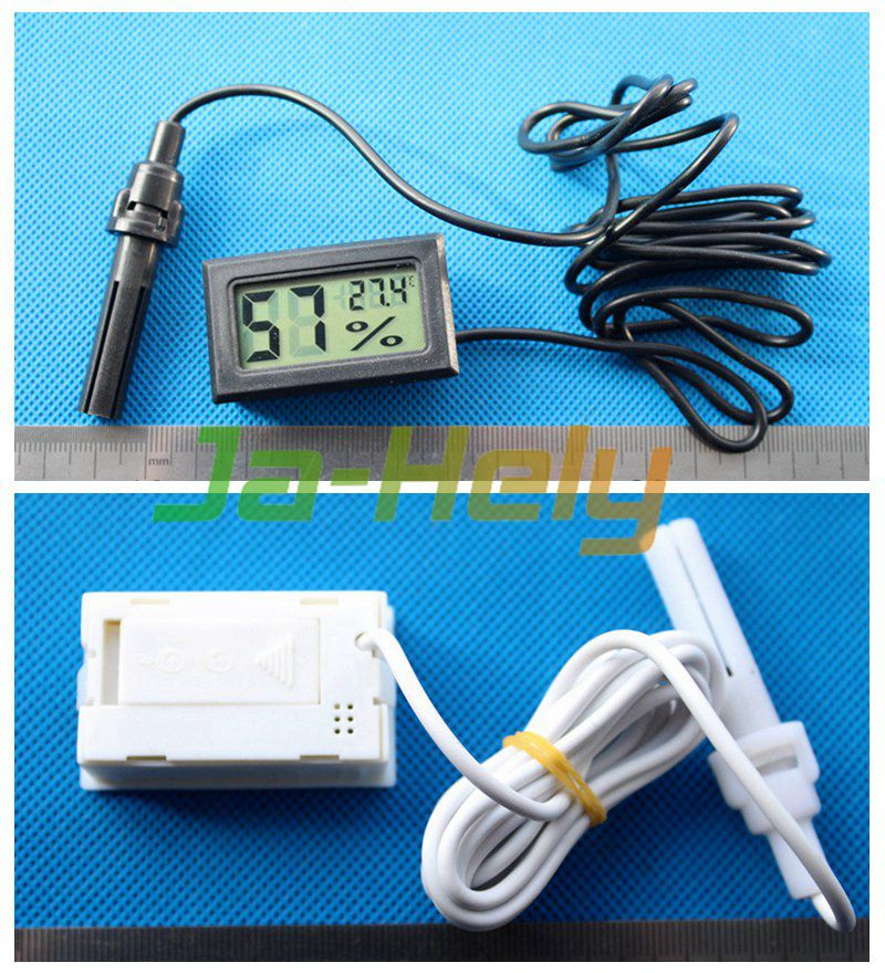 LCD Digital hygrothermograph thermo hygrometer with remote probe sensor