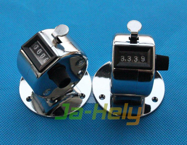 Desktop Number Clicker Metal shell Mechanical Hand Tally Counter with base
