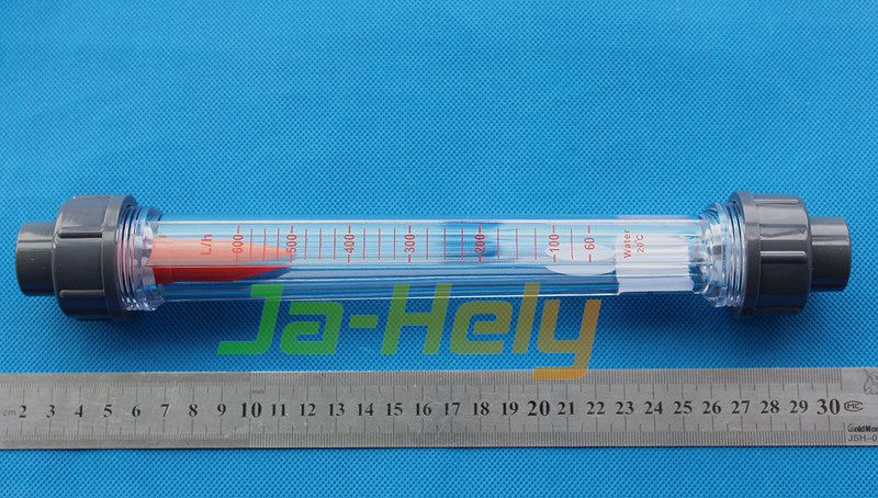 Plastic Variable Area Flowmeter long tube Rotameter for corrosive liquid