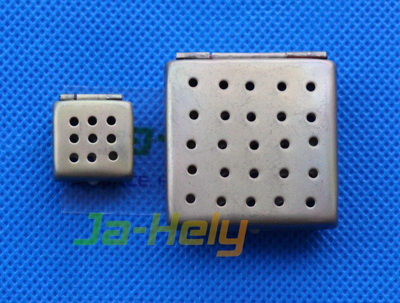 1.5*1.5 to 3*6cm Brass Perforated Tissue Processing Capsules for processing embedding