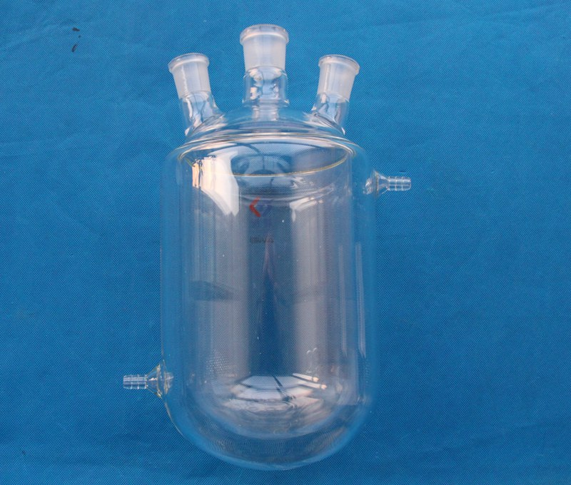 25ml to 5000ml Lab use round bottom Glass double wall tempering jacketed flask