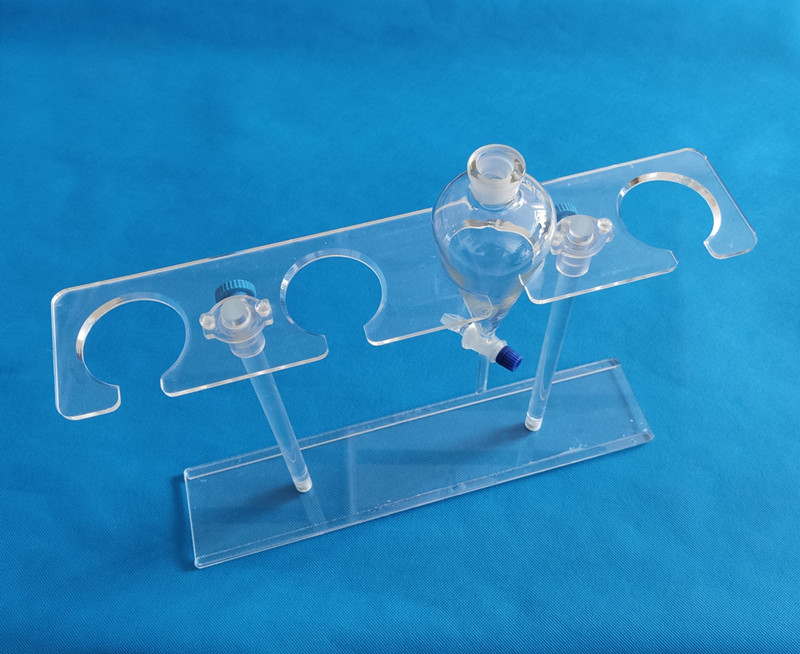 OEM custom Demountable 4 hole Acrylic Separatory Funnel rack PMMA separating funnel holder